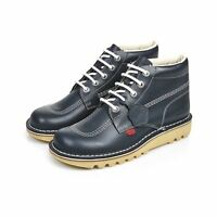 Kickers Men's Kick Hi Classic Navy Boots Hardwearing Rubber Durable Casual Shoes