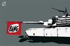 "ART POSTER~Eighty Two Tank Full Size ""BANG"" Canon Firing 24x36"" Print Original~"