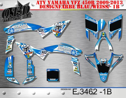 Motostyle MX decoración ATV yamaha yfz 450r a partir de 2014 Graphic kit yamaha racing e4154 B