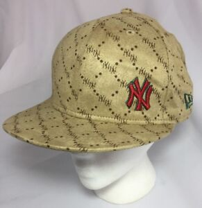 Woman s New York Yankees New Era 59 Fifty Fitted Hat Tan 7 1 8 ... 4dbaac67346c