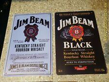 Jim Beam Sign White Jim Beam Whiskey Tin Sign Bourbon Metal Art Black Garage