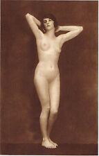1920's Vintage Female German Nude Model Art Deco Hanns Holdt Photo Gravure Print