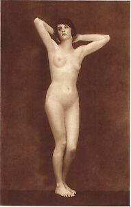 1920s-Vintage-Female-German-Nude-Model-Art-Deco-Hanns-Holdt-Photo-Gravure-Print