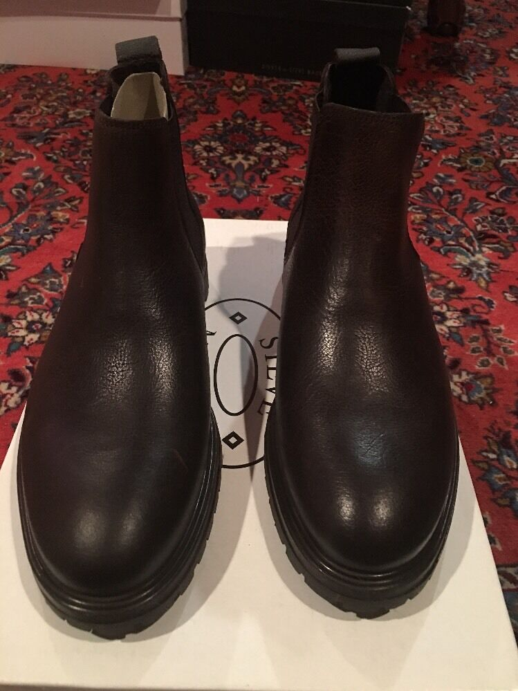 STEVE MADDEN RHINE BROWN LEATHER MEN'S BOOT SZ 9