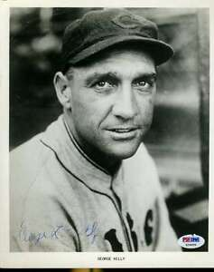 George Kelly Signed Psa/dna Certified 8x10 Photo Authenticated Autograph