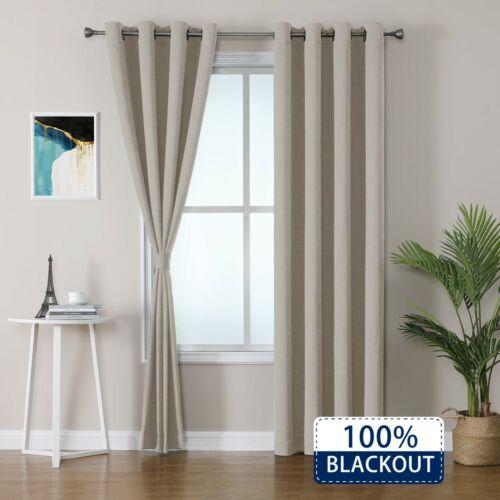 JK/&D 100/% Blackout Window Curtains Tiebacks included Multi Colors