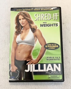 Jillian Michaels Shred It With Weights Levels 1 & 2 Workouts DVD 2010