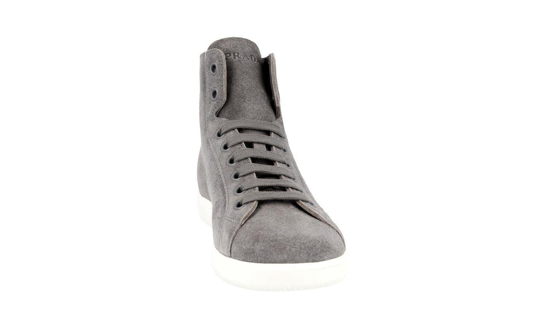 Auth High Top scarpe da ginnastica Scarpe PRADA PRADA PRADA 4T3149 Grigio Scamosciato Nuove 10 44 44,5 0fcc1a