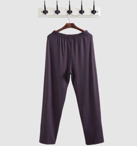 Men Pajama Trousers Soft Lounge Pants Jogger Slacks Tracksuit Sweatpants Solid