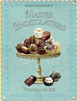 15x20cm MASTER CHOCOLATIER chocolate vintage enamel style metal advertising sign