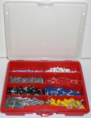 Box 1150 teilig nach DIN Aderendhülsen isoliert Sortiment 0,25-6,00mm²