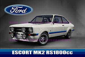FORD       ESCORT       MK2    RS1800ccc SIGN   MECHANICS    WORKSHOP     GARAGE BEDROOM BAR ETC   eBay