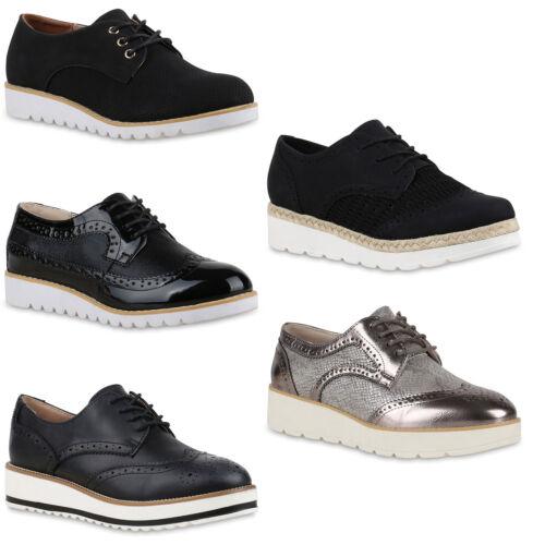 Damen Halbschuhe Dandy Style Profilsohle High Fashion Schuhe 892676 Modatipp