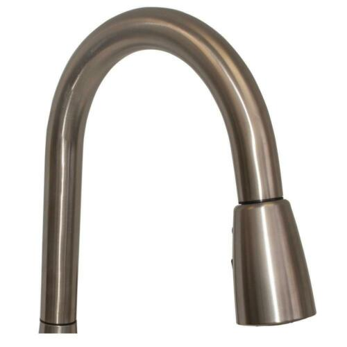 EZ-FLO Single-Handle Pull-Down Sprayer Kitchen Faucet in Brushed Nickel 10389