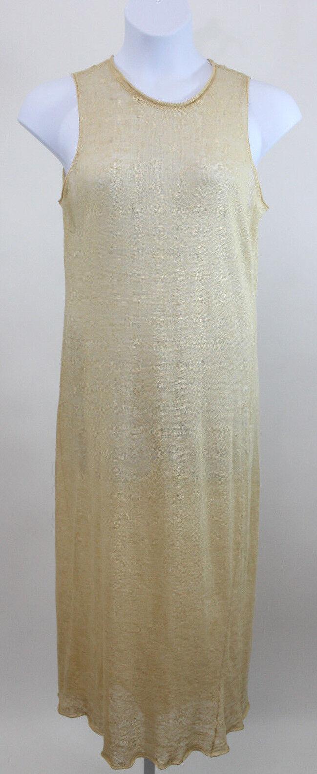 Ralph Ralph Lauren Tan Linen Knit Knit Knit Maxi Dress SZ M 08e6ed