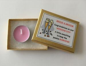 Bride Groom Little Box Of Fun Novelty Candle Gift Funny Wedding Joke Present Ebay