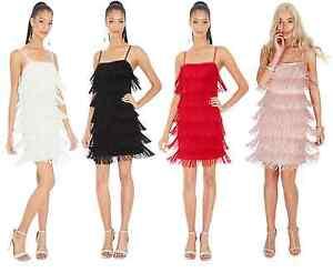 Vintage-Charleston-1920-039-s-Gatsby-Flapper-Fringe-Party-Dress-5-Colours-Size-8-14