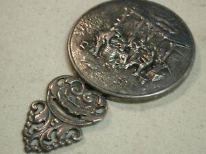 Danish Hans Jensen repousse silver round Purse Mirror w/Beveled glass mirror