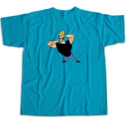 Johnny Bravo Pose Classic Cartoon Funny Show Mens Womens Kids Unisex Tee T-Shirt