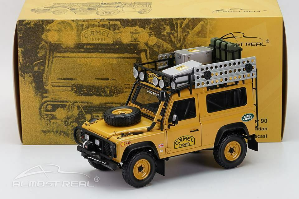 Almost Real 1 18 Modelo Coche Die Cast Land Rover Defender 90 Tdi Camel Trophy