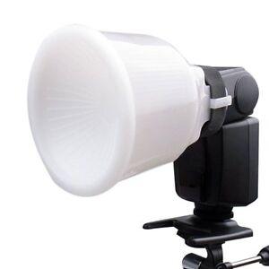 Universal Cloud Lambency Flash Diffuser Reflector w/ White Dome Cover For Canon