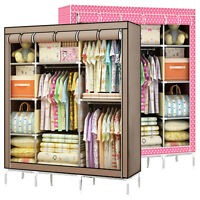 Super Folding Bedroom Clothes Storage Rack H215 Closet Wardrobe Armoire Cabinets