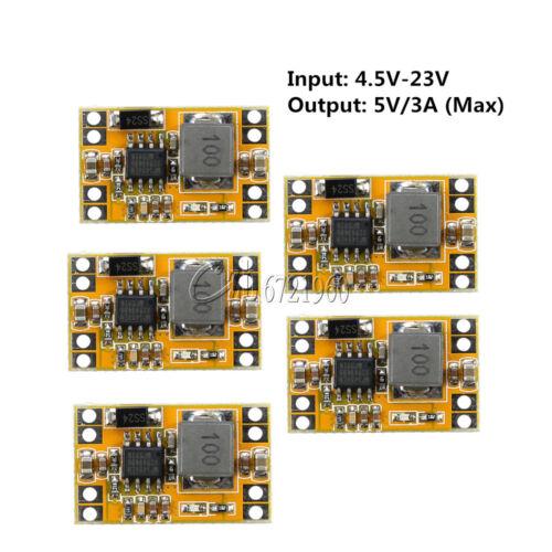 5PCS DC-DC 9V//12V//19V a 5 V 3 A Usb Cargador De Buck Step Down fuente de alimentación 4.5-23V
