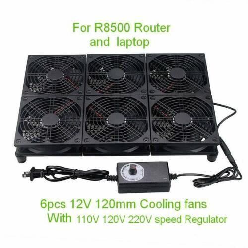 120mm 6 Fans High Speed PC Laptop Computer Cooler For NETGEAR R8500 Router Fan