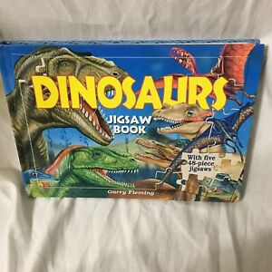Dinosaur Jigsaw Book With Five 48-Piece Jigsaws