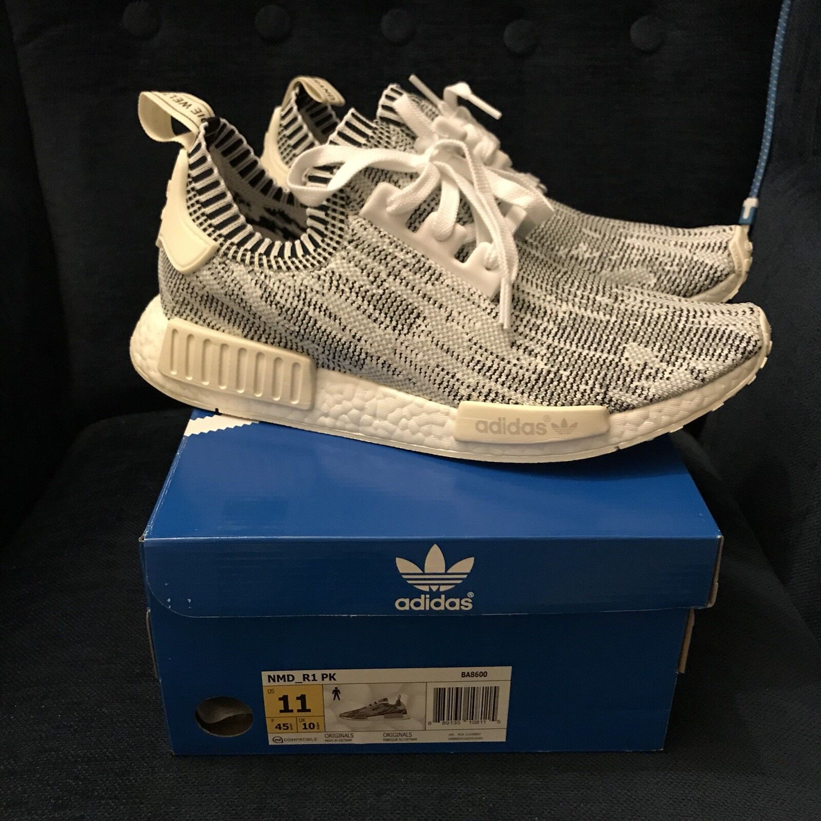 Adidas NMD Boost R1 PK Grey Camo White Camo Pack BA8600 New Size 11