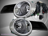 2008-2010 Toyota Highlander Clear Fog Lights + Switch + Wire Oe Style