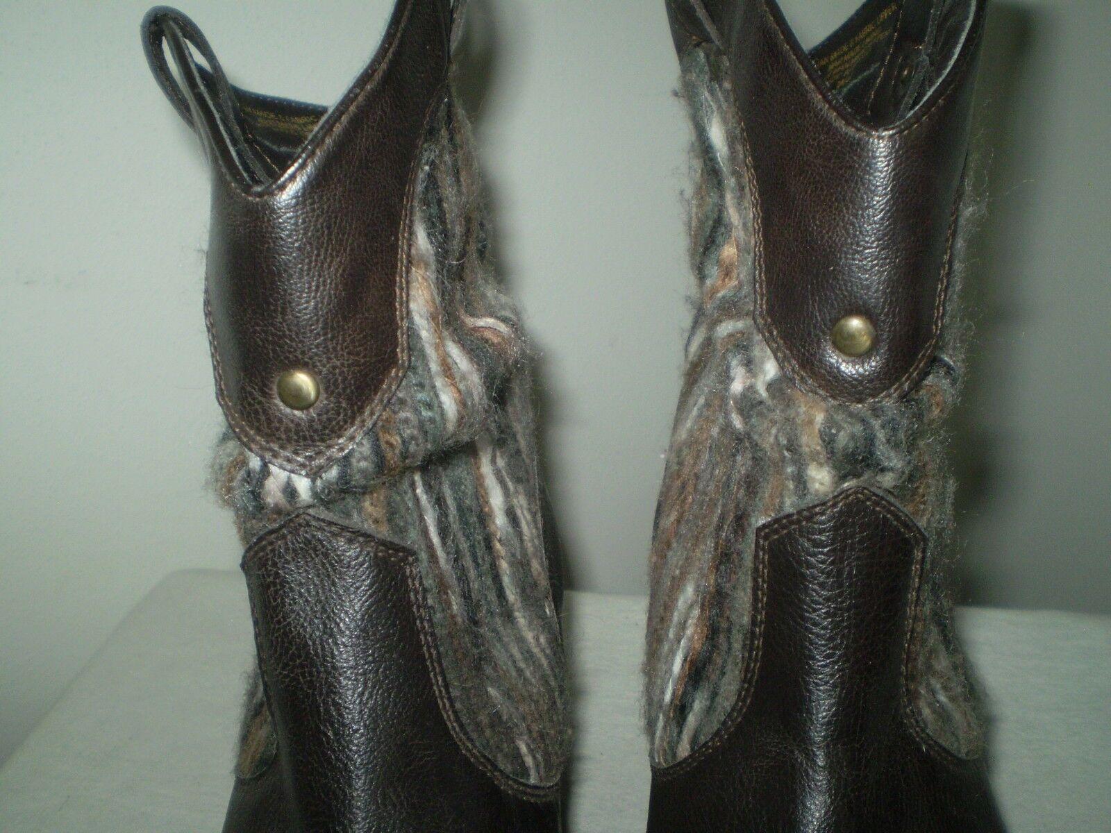 Boc Boc Boc Born braun Western Distress Heels Rustic Accent Shaft Pull On Low Stiefel 8 39 26ee51
