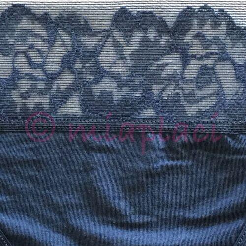 NWT On Gossamer Cabana Cotton Breeze Thong Panty #022853 Blue Midnight