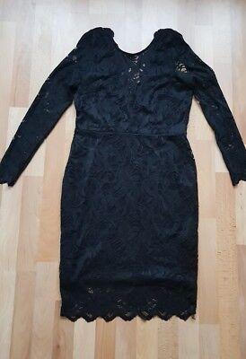 Abendkleid Cocktail Party Kleid Gr. 42 H&M schwarz Spitze ...