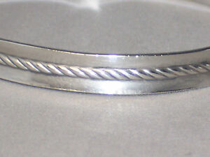 VINTAGE-STERLING-SILVER-CABLE-BANGLE-BRACELET-BY-METRO-CREATIVE-JEWELERS