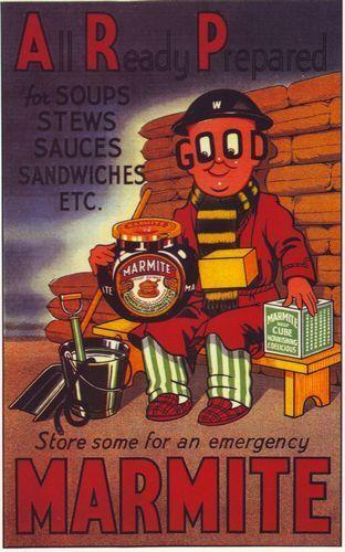 World War 2 Marmite Advertisement Poster A3 Print