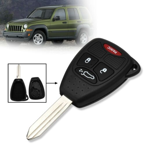 4 Buttons Replacement Remote Key Fob Case Shell Blade For Jeep Liberty 2005-2007