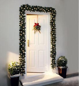 tannengirlande sterne stern weihnachtsdeko 5m 80 lichter beleuchtet aussen innen ebay. Black Bedroom Furniture Sets. Home Design Ideas