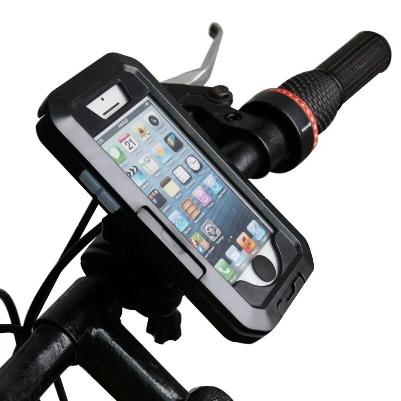 360° Rotating Bicycle Motorcycle Bike Phone GPS Waterproof Case Bag Holder
