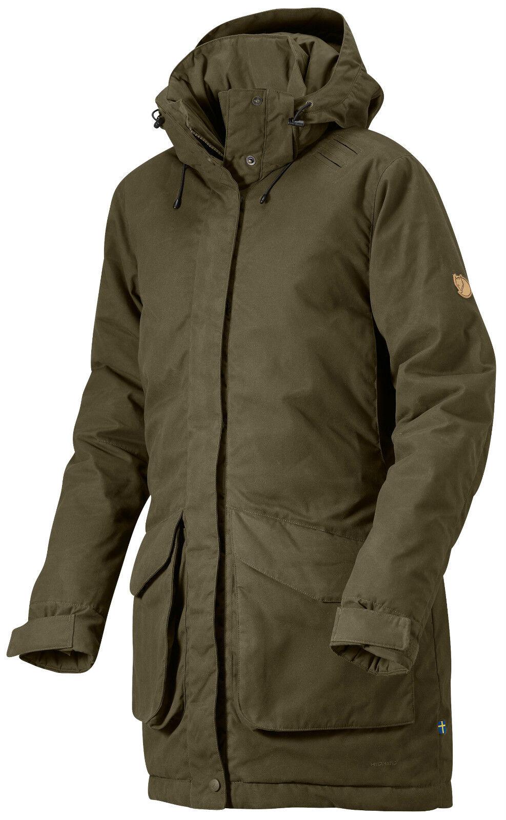 Fjällräven högvilt Jacket w. 90334 Dark verde oliva g-1000 hydratic señora chaqueta de caza