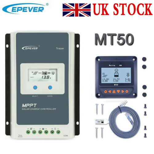 EPEVER 10//20//30//40AN MPPT Solar Panel Controller Charge Wifi Serial Server MT50