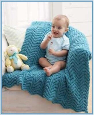 CROCHET PATTERN for RIPPLE BABY BLANKET AFGHAN  #412 NOT CLOTHES