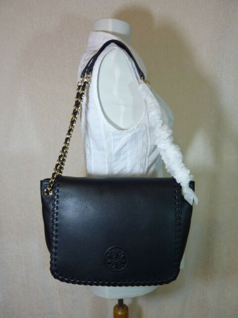 a769bdb5c7cf NWT Tory Burch Classic Black Leather Marion Small Flap Shoulder Bag -  450