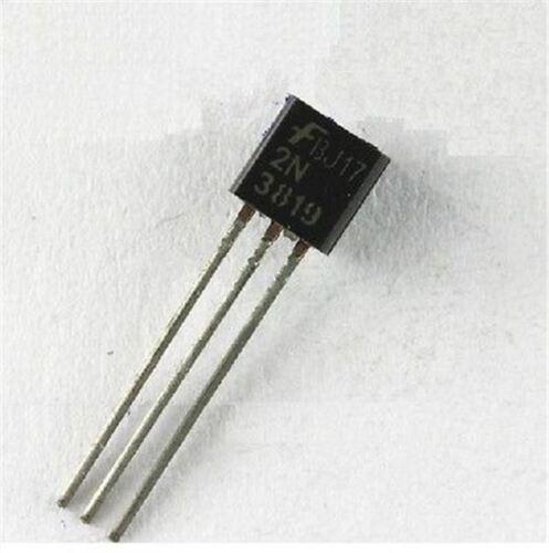 50Pcs Rf Nch 25V TO-92 2N3819 3819 Transistor New Ic kv