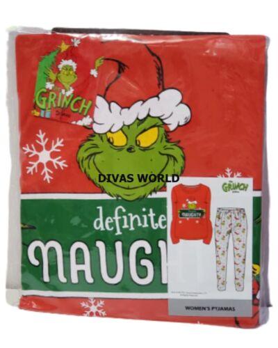 Dr Seuss The Grinch Pyjama Set Women/'s Soft Ladies PJ Loungwear Xmas Gift