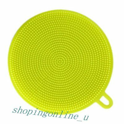 Magic Silicone Cleaning Sponge Fashion Round shape Yellow Kitchen room Washing