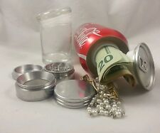 Soda Stash Can Diversion Safe Secrete Container Hidden Herb Grinder Glass Jar