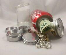 Soda Stash Can Diversion Safe Secrete Container Hidden Herb Grinder Glass Jar