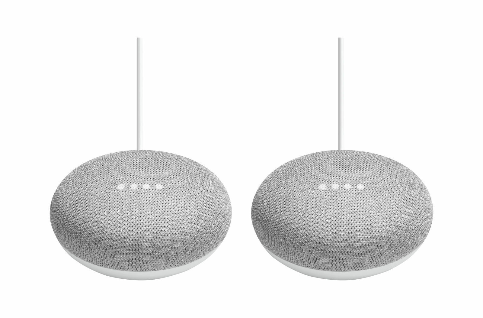 Google Home Mini Chalk 2 pk Smart Home Assistant & Voice Control (New & Sealed)