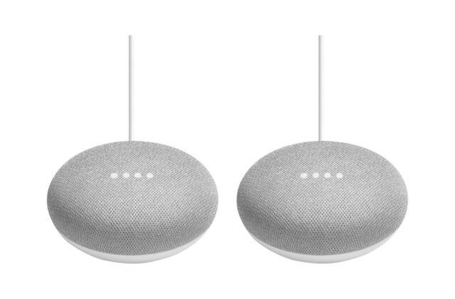 Chalk Google Home Mini Smart Speaker with Google Assistant 3-Pack Bundle